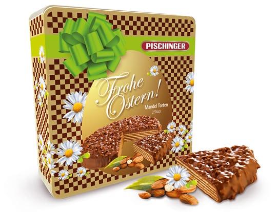 Ostergeschenk Frohe Ostern Pischinger Mandel Torte Mandeltorte